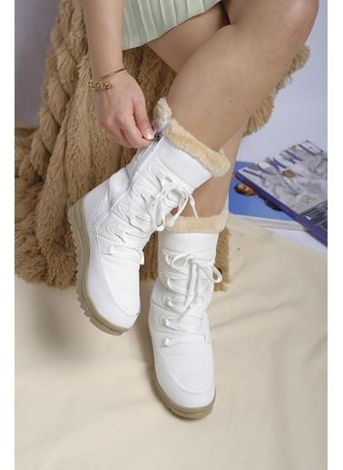 Oksit Twingo 995 Polarlı Suya Dayanıklı Kadın Bot Beyaz